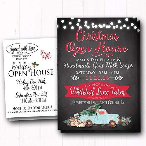 Christmas Holiday Open House Invite - Dinner Party- Shop