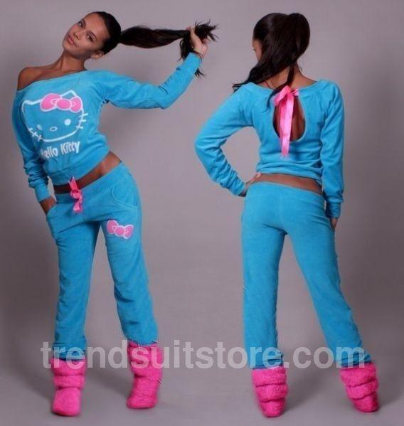 cc07cd8c2 #tracksuit #velour #hellokitty Stylish women's velour sweatsuit Hello kitty
