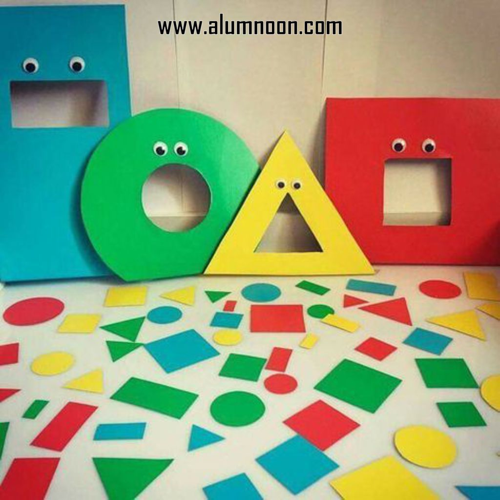 Monster theme Sort by colors and shapes | Preschool games/activities ...
