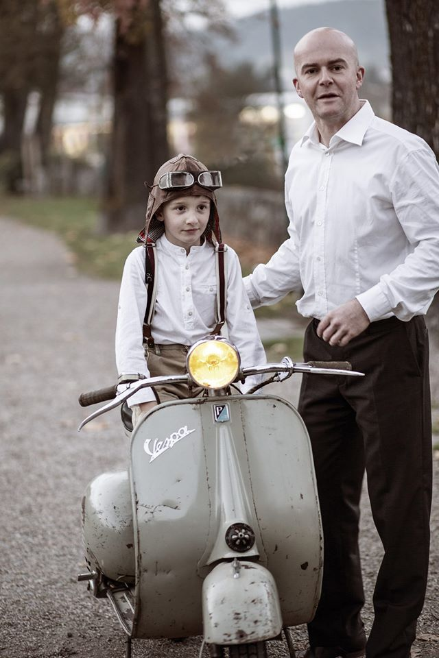 1955~1956 vespa150 good family