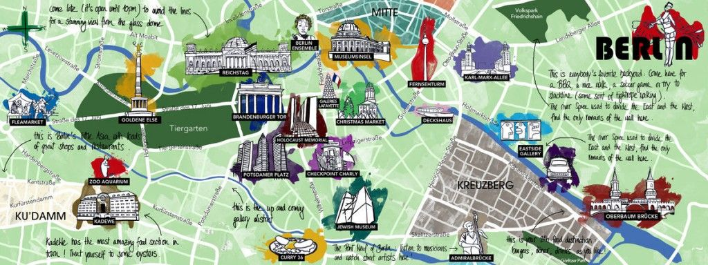 Map of Berlin Things to do in berlin Berlin attractions Germany – Tourist Map of Berlin