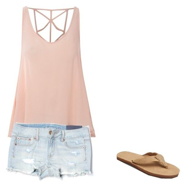 """""""outfit 5"""" by chloebellia on Polyvore featuring Rainbow, Glamorous and American Eagle Outfitters"""