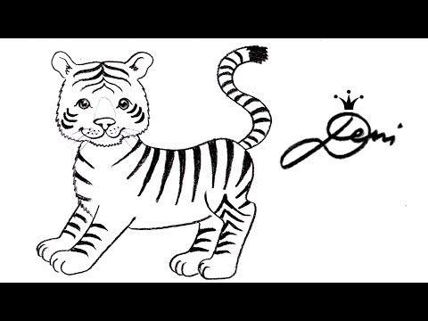 Tiger Schnell Zeichnen Lernen Fur Kinder How To Draw A Tiger Baby Kak Se Risuva Tigr Tigre Youtube Zeichnen Lernen Fur Kinder Zeichnen Lernen Tiger Malen