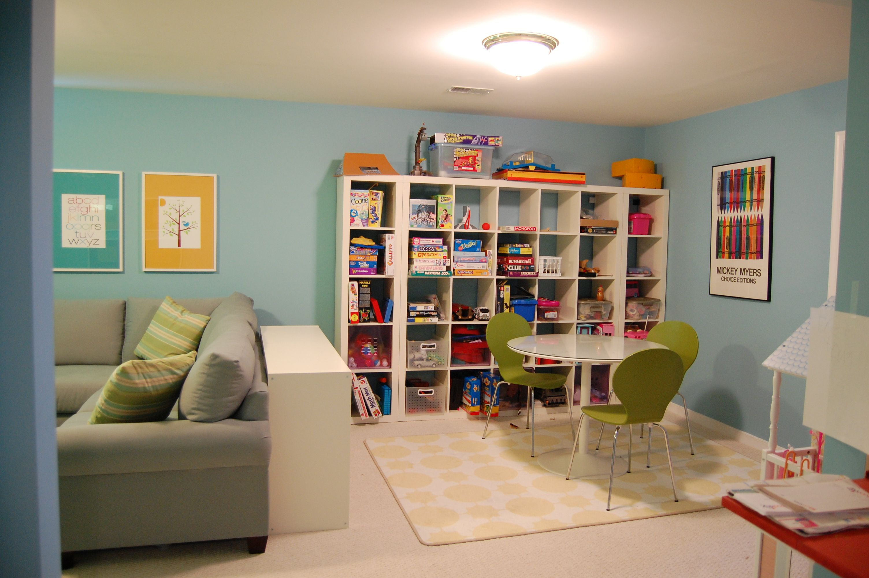 Fun and functional family playroom playrooms room ideas for Organizing living room family picture ideas