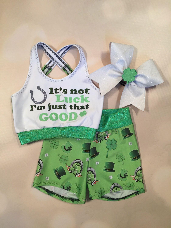 Girls Dancewear St. Patricks Day Crop Top sports bra
