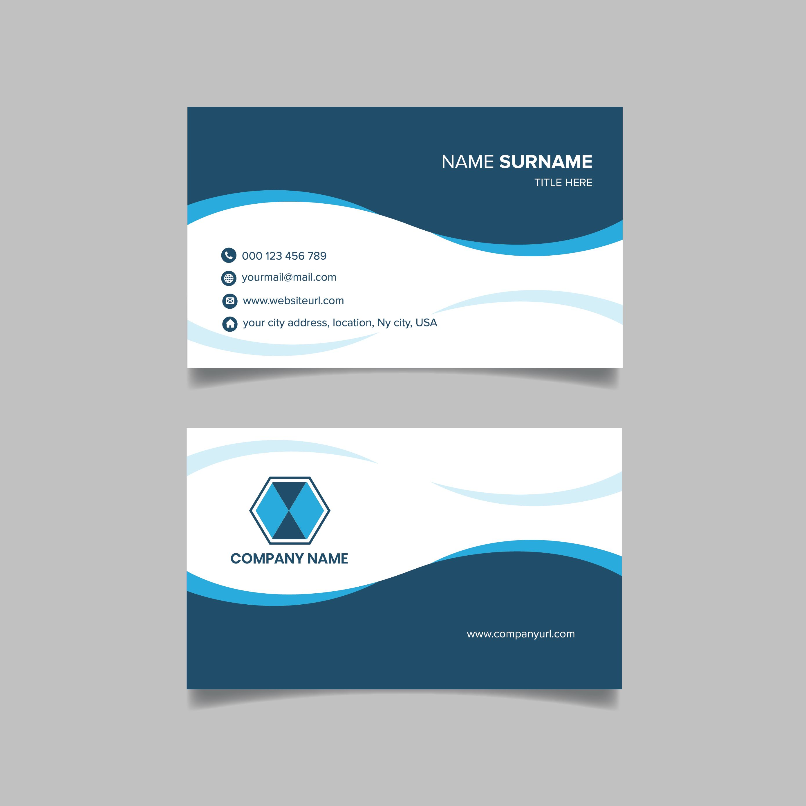 Business Card Double Sided Business Card Stock Modern Business Cards Design Business Card Design