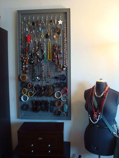 Look Heathers DIY Peg Board Jewelry Organizer Diy jewelry