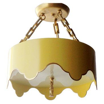 Check out this item at one kings lane tole tent semi flush mount yellow