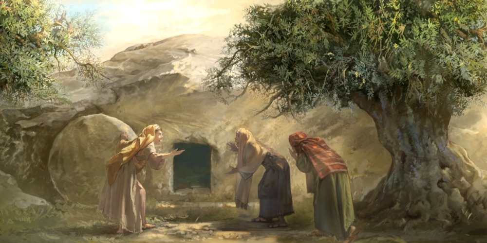 O túmulo está vazio — Jesus está vivo! | Vida de Jesus | Túmulo de jesus,  Soldados romanos, Maria madalena