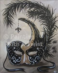 Black And Gold Mask Prairieville La Painting Class Painting
