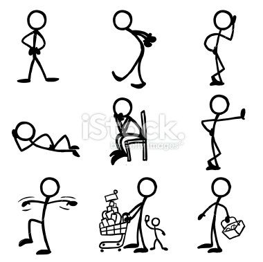 stick figures stick figures doodles and drawings rh pinterest com Cool Stick Figures Stick People Clip Art Outline