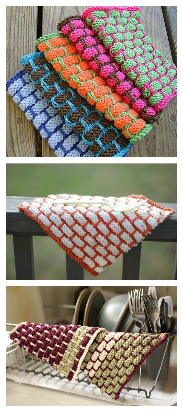 Knit Ballband Dishcloth FREE Pattern | Free pattern, Patterns and Free