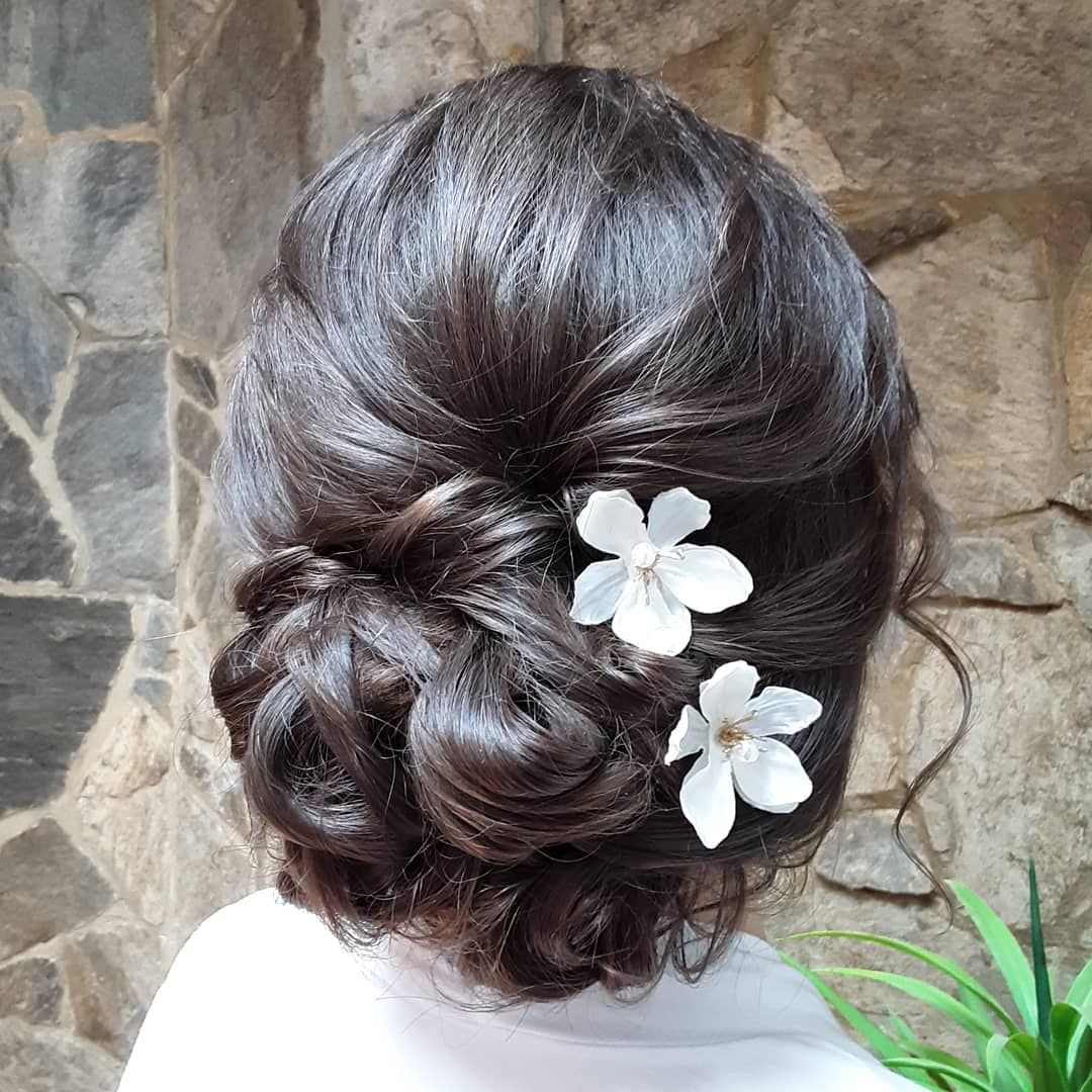 Candice Chose The Most Romantic Updo Entangled With Sweet Florals To Complement One Of The Most Fun Parts Of Her Big Day Was Catching Up With One Of Her B
