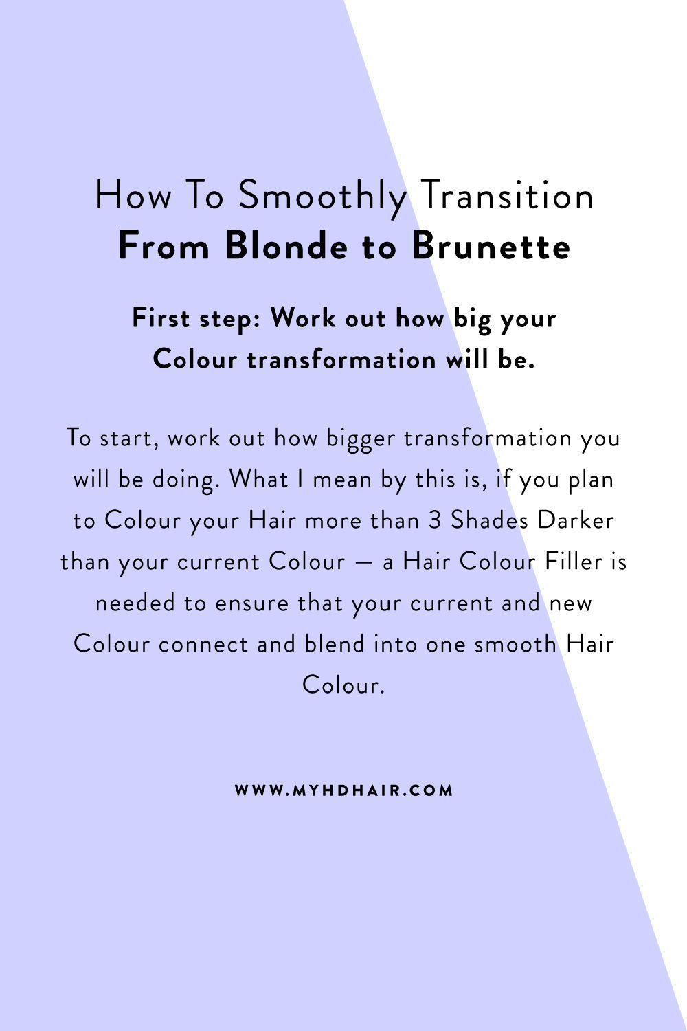 How To Smoothly Transition From Blonde to Brunette