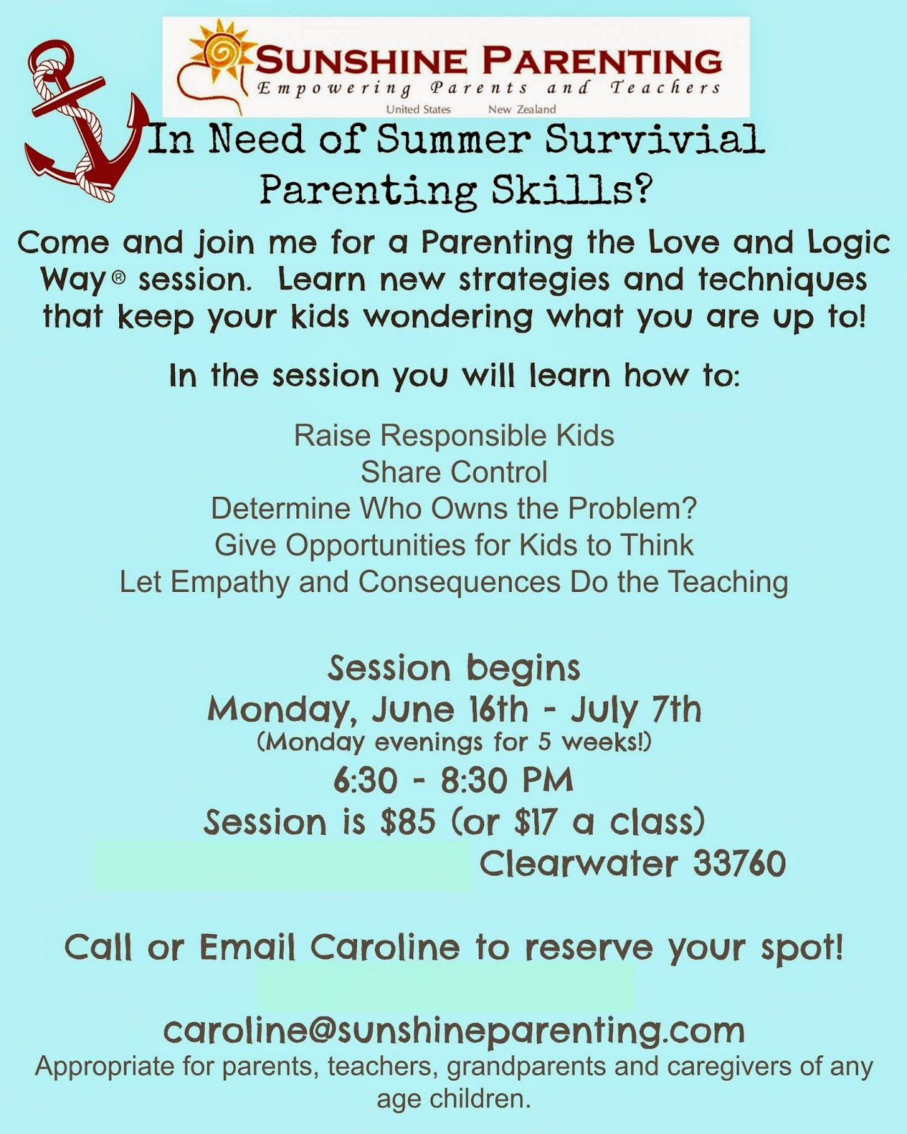 Summer Survival Parenting Classes Stepinside Thishouse