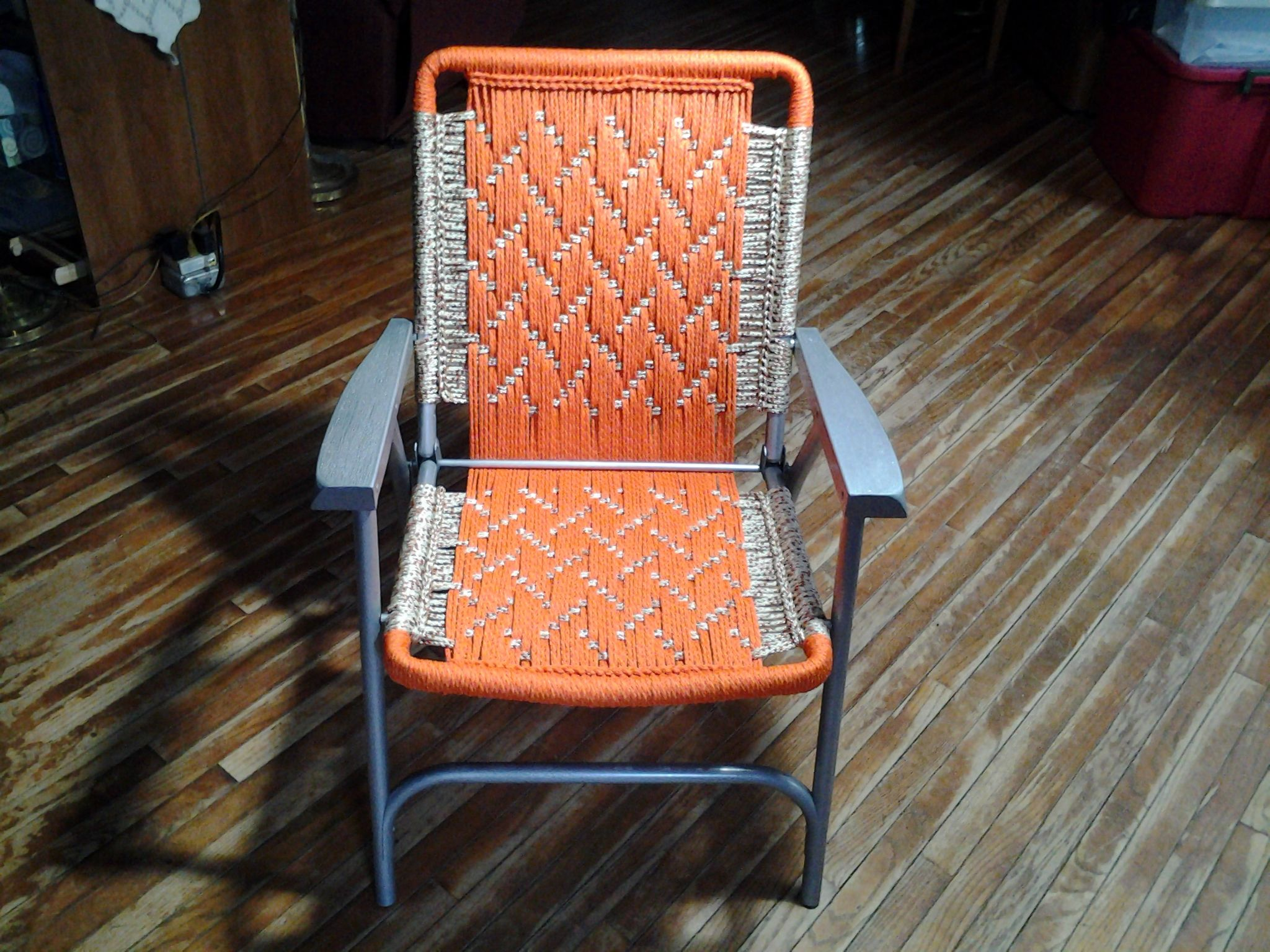 Bright And Cheerful Macrame Lawn Chair Sold Macrame