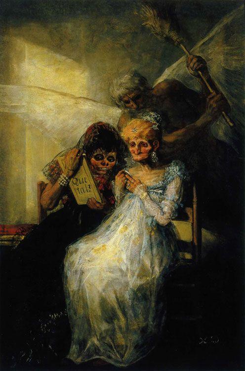 Goya, Les vielles, 1810   Francisco goya, Goya paintings, Art