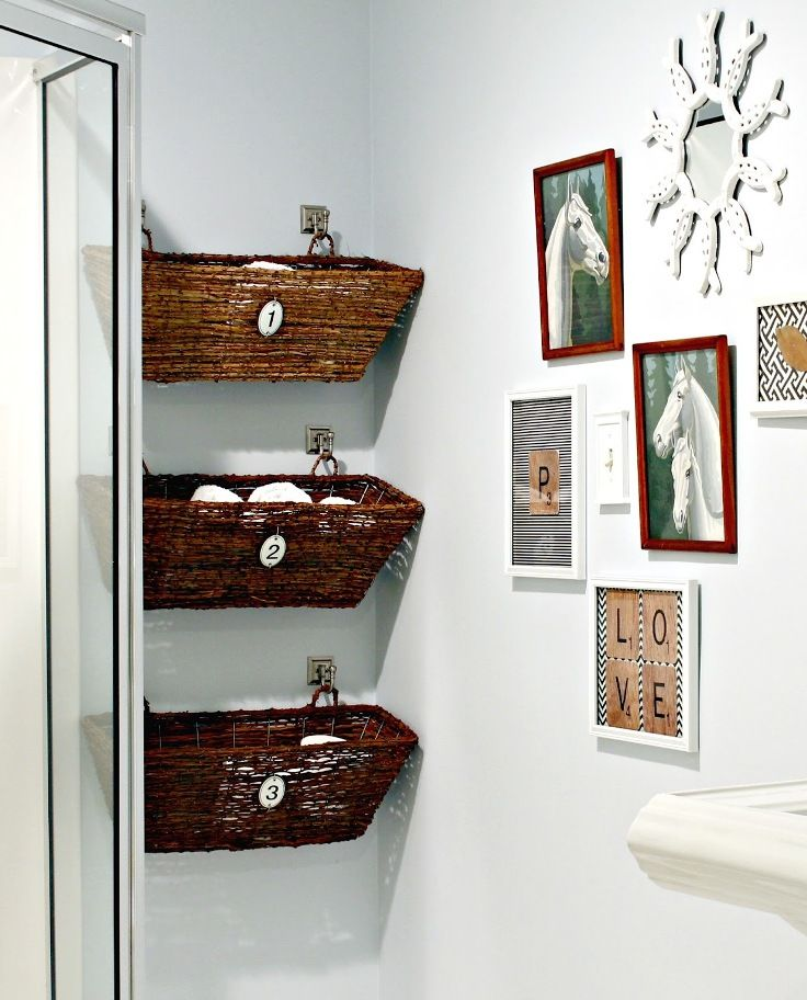 Chrissie says:  'Oh boy, love this idea...just what I want for my bathroom...yay!'...♥♥♥...Window Box Bathroom Storage (perfect for a small bathroom) - great idea.