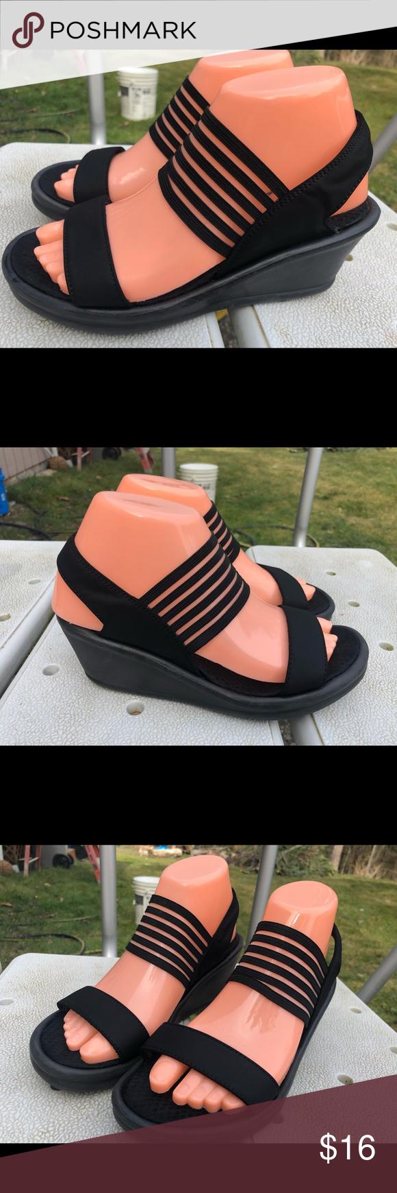 Skechers 38472 Rumblers Sci Fi Black Sandals SZ. 7 | Black