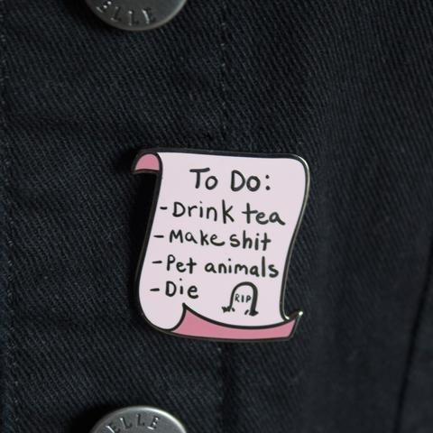 To Do List Enamel Pin | Patches N Things | Pinterest | Patches, Badges And Pin  Pin