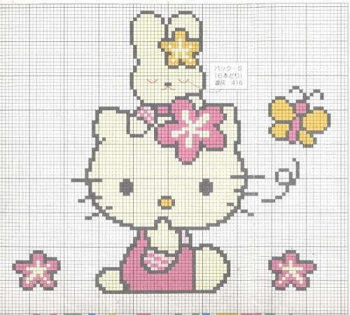 Patron punto cruz Hello Kitty - Imagui | H.B. y P.C. Hello Kitty ...