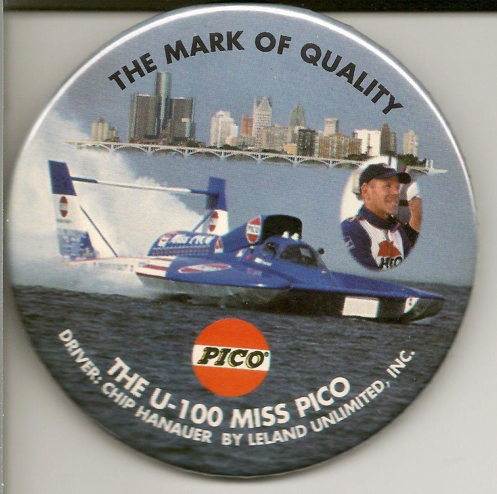 1999 u100 miss pico hydroplane pin from 9.99