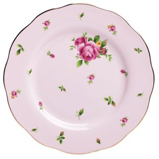 Royal Albert New Country Roses Pink Formal Vintage Salad Plate 8 3 Pratos Porcelana Pratos Decorativos Porcelana