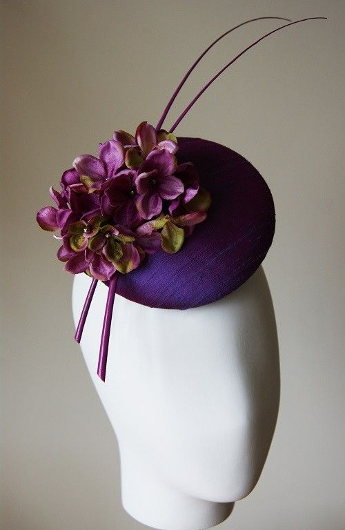 Ascot Hats 4U - Esther Louise Millinery Purple silk hydrangea hat
