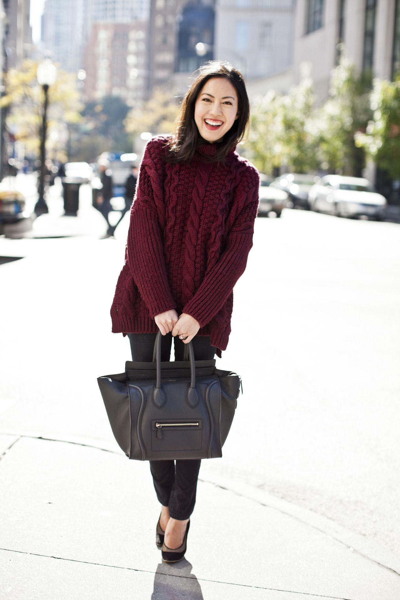 Pair your thick cableknit sweater with skinnies. | The Office ...