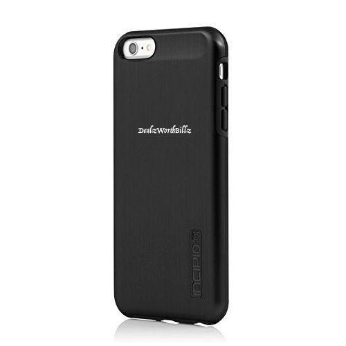 iPhone 6 case Incipio DualPro® SHINE  high density rigid Black/Black NEW #Incipio