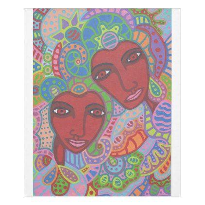 Two of Hearts Fleece Blanket - Saint Valentine\u0027s Day gift idea