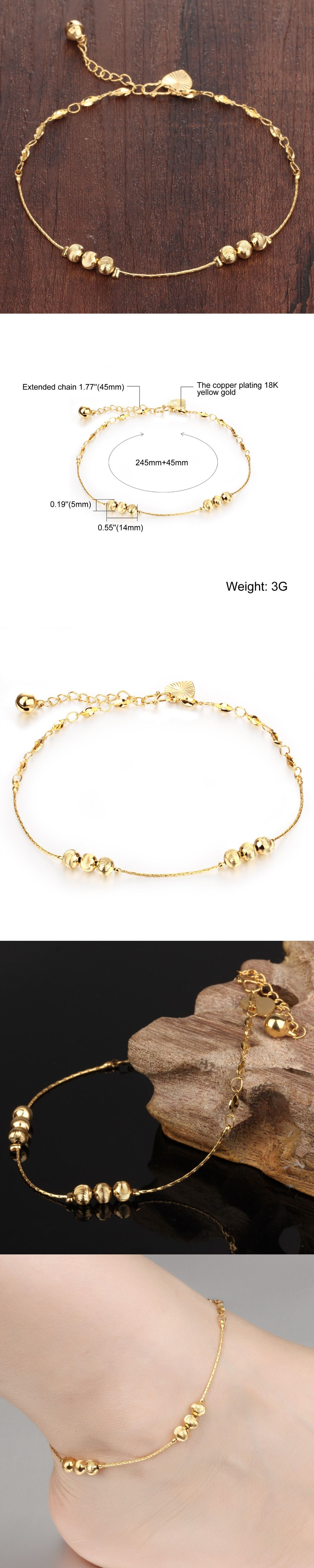 jewelry aa tube with womens anklet layered product galis double gold