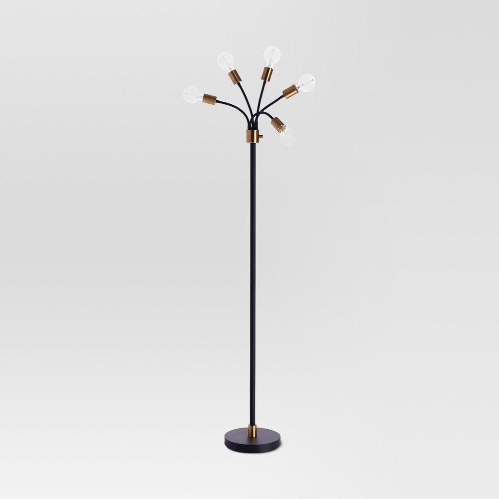 Exposed Bulb Multi Head Floor Lamp