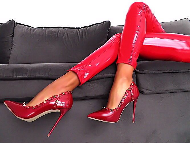 Schuhe rot elegant