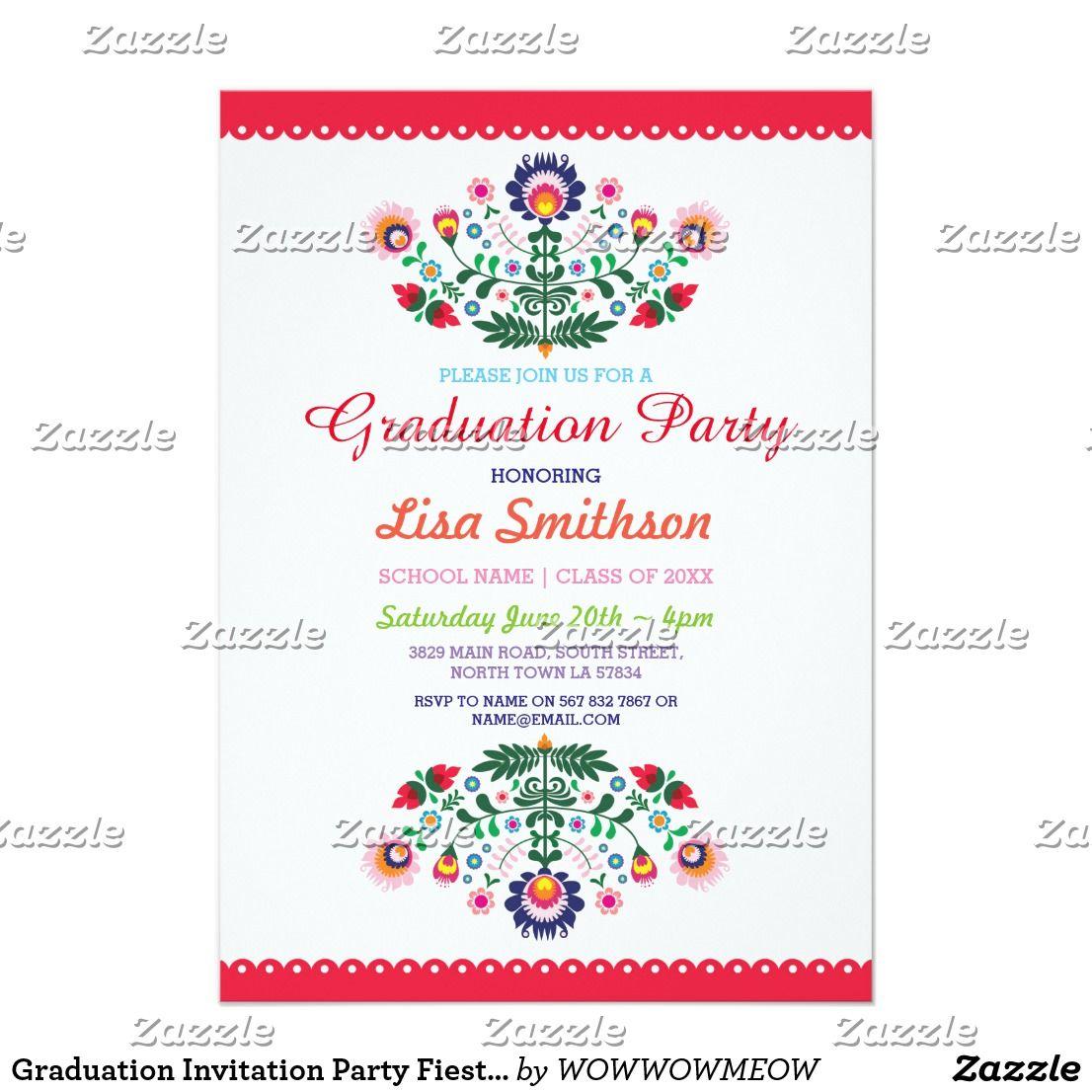 Zazzle graduation party invitations image collections baby shower graduation invitation party fiesta mexican invite zazzle filmwisefo