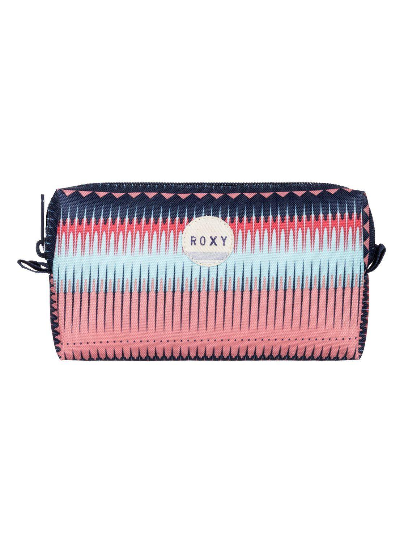 Roxy Pipeline Pencil Case Aruba Blue Plaid 1 Bfk1 Pencil Case Zip Around Wallet Backpack Bags