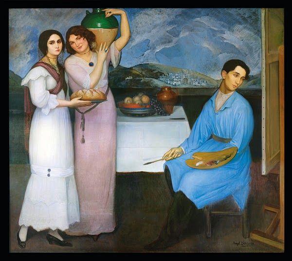 Ángel Zárraga (Mexican, 1886-1946) - Pan y agua (1910)