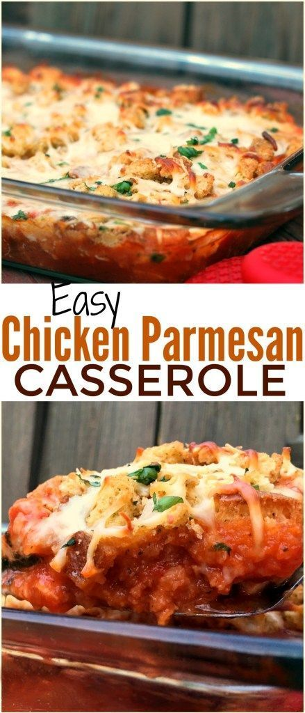 Photo of This Easy Chicken Parmesan Casserole is one of the easiest casserole recipes eve…