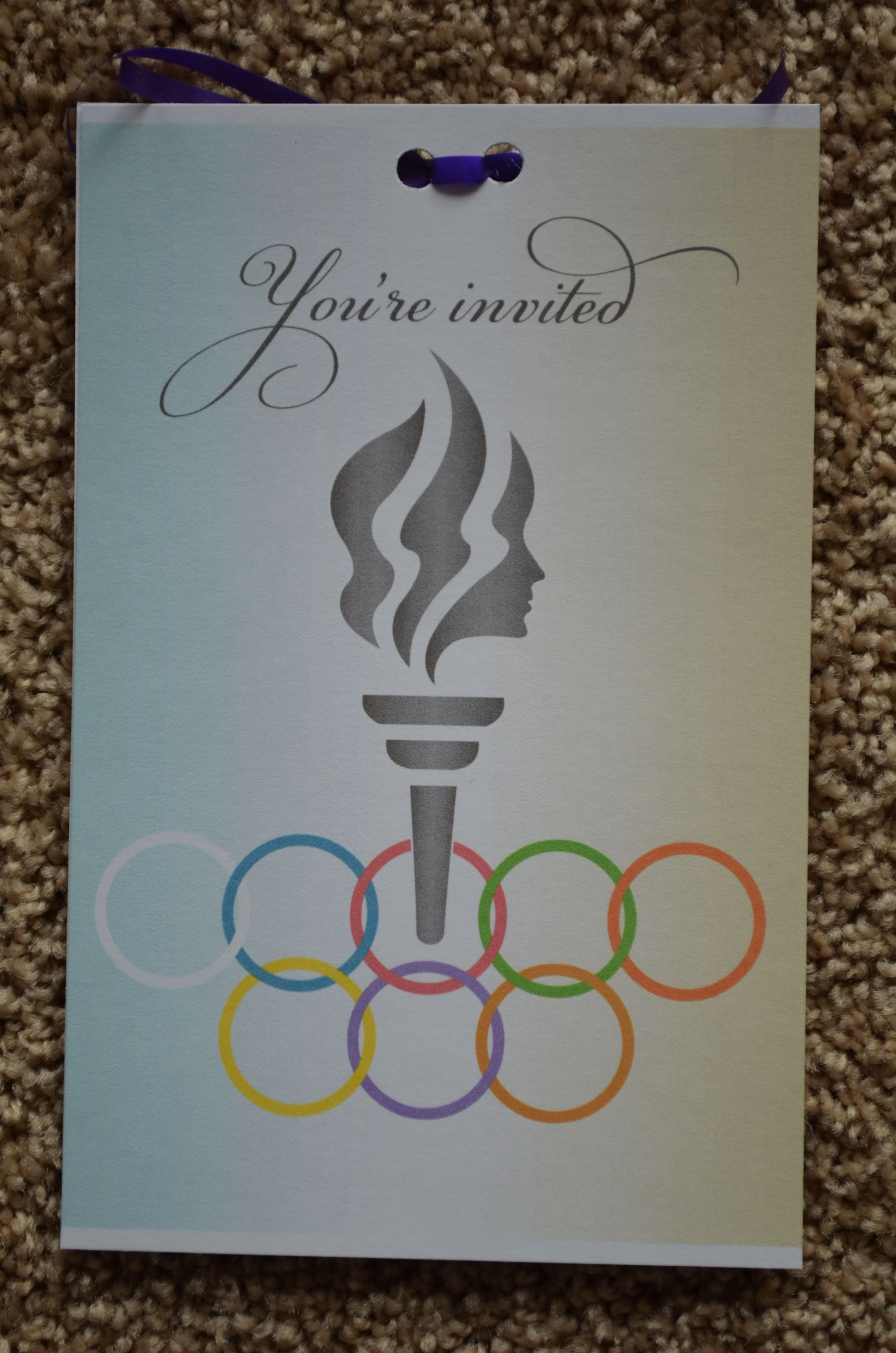 The Invitations To The Girls Were All Backed With The Olympic Flame