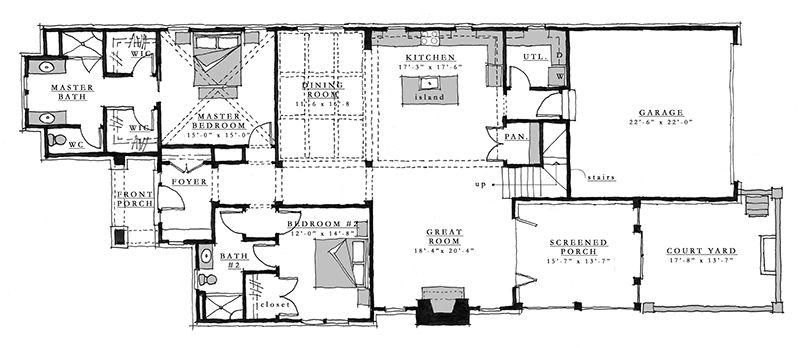 Pettigru Sl 1998 Southern Living House Plan Southern Living House Plans Vintage House Plans House Plans