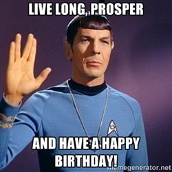 Blessing Of Spock Be With You Star Trek Happy Birthday Birthday Greetings Funny Happy Birthday Funny Ecards