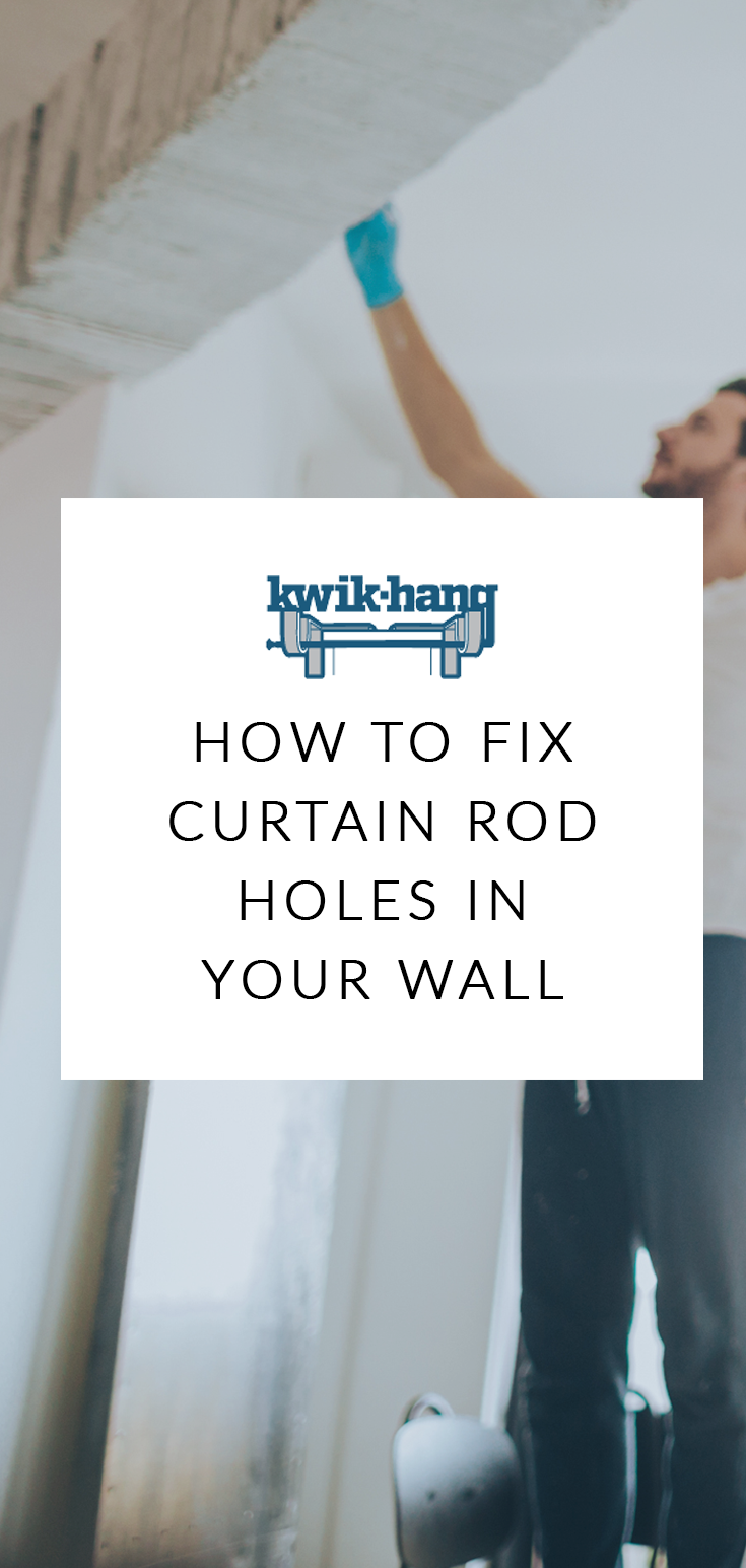 Curtain Rod Struggles How To Fix Curtain Rod Holes In Your Wall