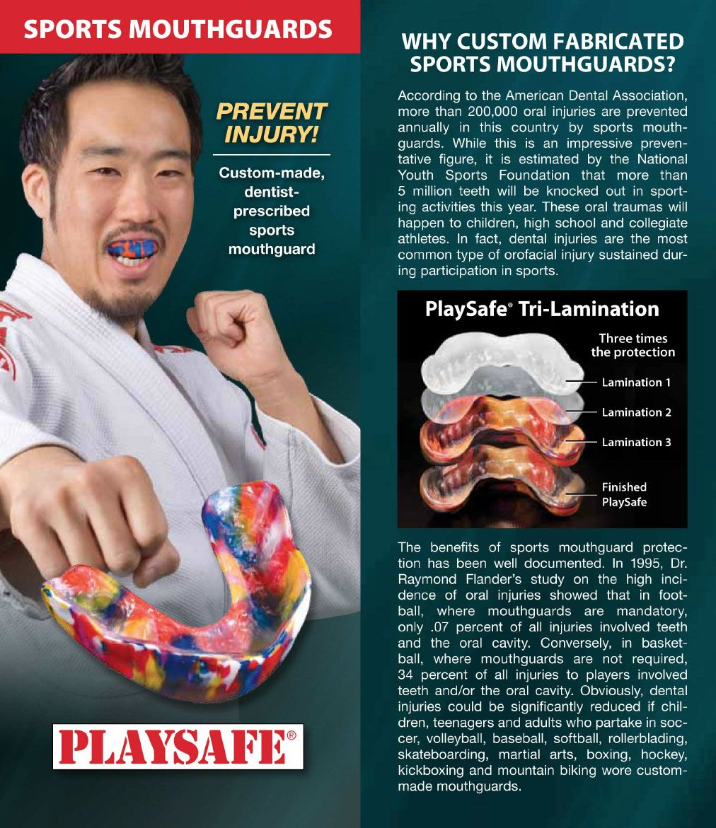 Sports Mouthguard Playsafe product brochure. Click to