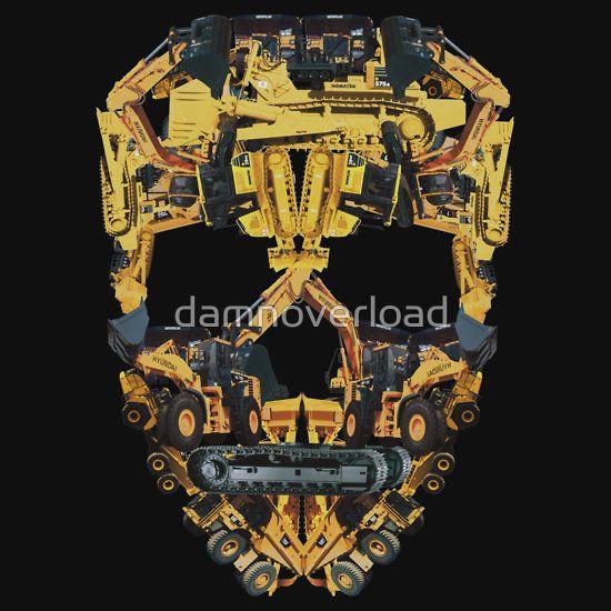 CAT Vinyl Decal Diesel Power HEO Heavy Equipment Mechanic Operator Skull Gas USA