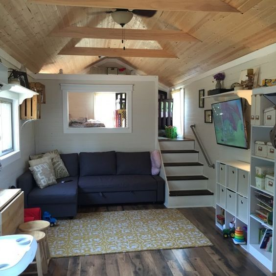 39\u2032 Gooseneck Tiny House w/ loft Tiny Houses and campers