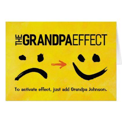 Grandpa Birthday The Grandpa Effect Card Grandpa birthday Card