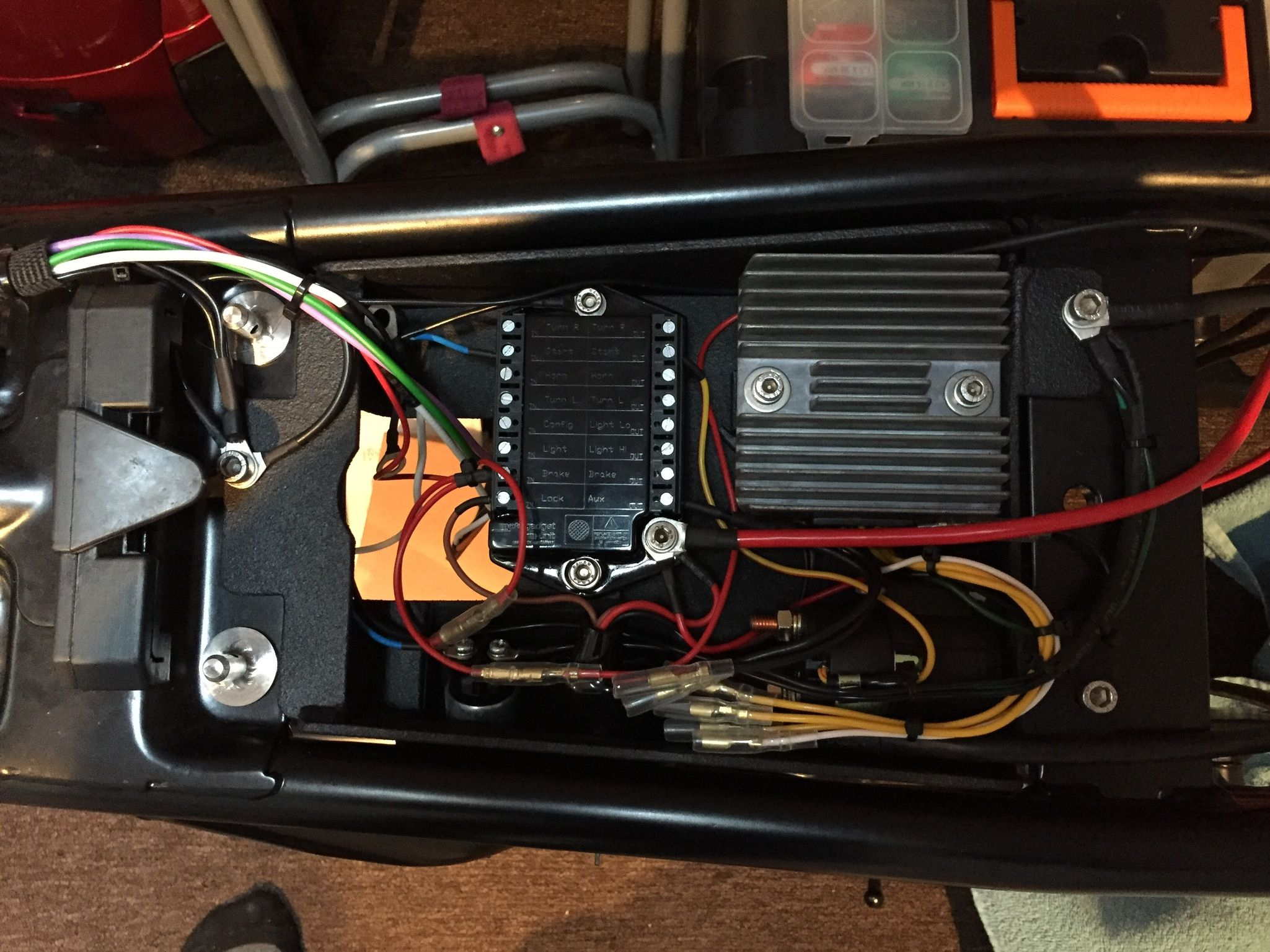 medium resolution of wiring the bike with the m unit from motogadget kawasaki z1000 cb750 street