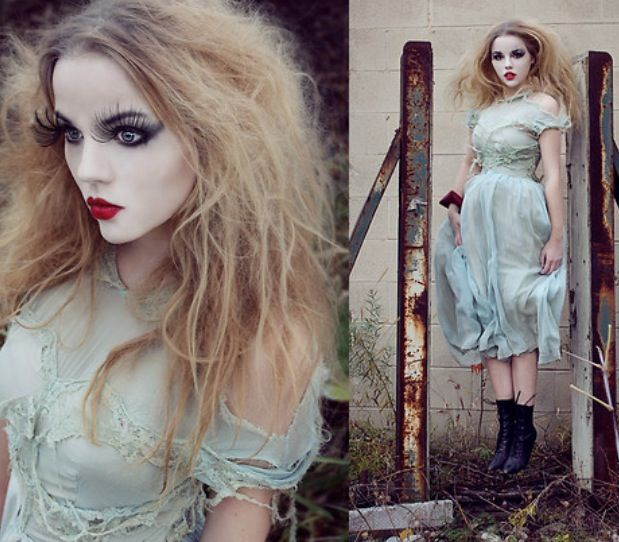 Tim Burton inspired doll costume