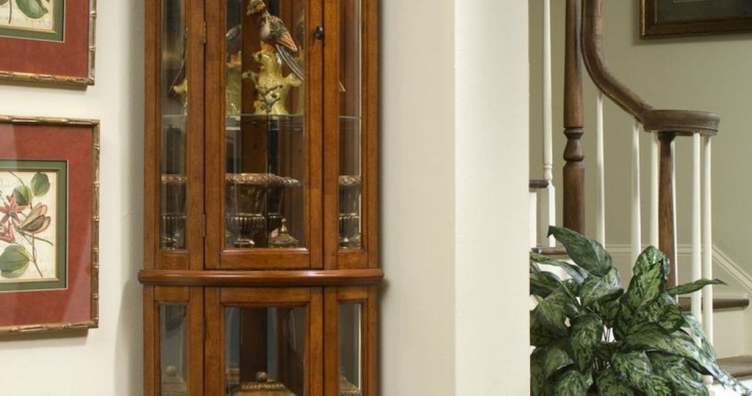 Attractive 2018 Rent To Own Corner Curio Cabinet   Kitchen Decor Theme Ideas Check  More At Http