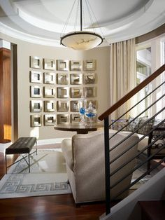 How To Decorate A Curved Wall Google Search Curved Walls Contemporary Living Room Mirror Wall Living Room